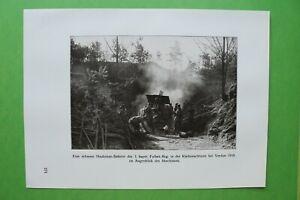 RWc) Verdun 1914-1918 Haubitzen Batterie Fussart Reg Frankreich (1926) 1.WK WWI