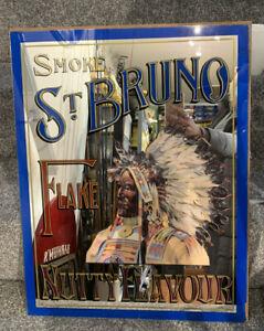 "Vintage St. Bruno Flake Tobacco Pub Advertising Mirror Unframed 18.5"" X 23.5"""