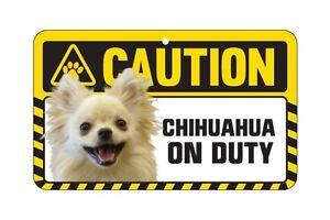 Dog Sign Caution Beware - Chihuahua