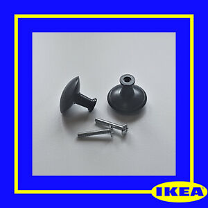 117615 x 2 (100413) IKEA HEMNES Furniture Knob Handle with screws - LARGE size