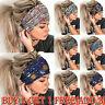Women Wide Elastic Turban Head Sports Yoga Boho HeadBands Wraps Bands Hair