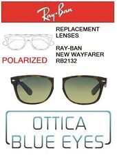 Lenti di Ricambio RAYBAN NEW WAYFARER RB2132 Replacement Lenses Ray Ban POLAR 76