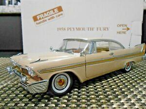 Danbury Mint 1:24 1958 Plymouth Fury *Buckskin Beige* W/ Title!