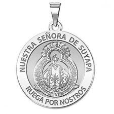 Nuestra Senora De Suyapa Medal - 3/4 Inch Size of a Nickel -Sterling Silver