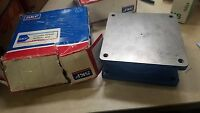 New Open box SKF Turntable 5204268 10,000lb steel locking bearing square blue