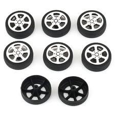 8pcs Black Plastic Car Tire Wheels 30*9*1.9mm For RC Model Robot Car Parts Toy