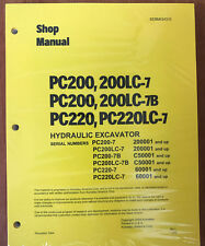 Komatsu Service PC200-7 PC200LC-7 PC220-7 PC220LC-7 PC200-7B PC200LC-7B Manual