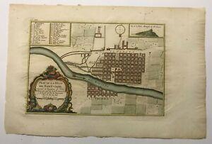 SANTIAGO SANT-JAGO CHILE 1750 NICOLAS BELLIN NICE ANTIQUE PLAN 18TH CENTURY