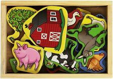 Melissa & Doug 20 Wooden Farm Magnets