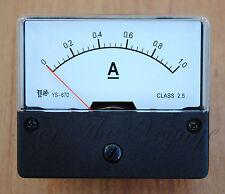 0 - 1A DC AMPEROMETRO Amp corrente pannello Misuratore Analogico Analogico Nuovo