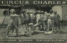 India Indian Circus Cirkus Charles Wanderschau Used 1945 WWII Soldier Postcard