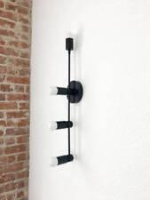 Sarasota Wall Sconce Matte Black Mid Century Modern Industrial 4 Bulbs Light