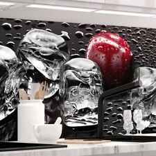 Küchenrückwand - KIRSCHEN UND EIS - 1.5mm Hart-Material, versteift