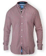 D555 By Duke Men's Gingham Check Button Down Collar Shirt (Dane)