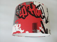Graffiti Red and Black Wallpaper LAMPSHADE..Handmade.