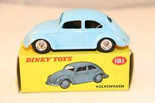 Dinky Toys 181 Volkswagen Kever - Kafer Beetle blue with spun hubs SCARCE MIB