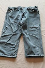 "USA Wrangler Blue Jeans 22MWZSB Tag-42""x30"" Actual-38""x27"" Light Wash Cowboy Cut"