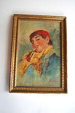 Vintage Painting, Entrico De Luise, Oil Painting, Art