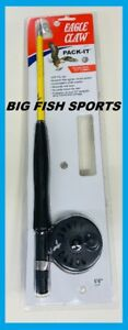 """EAGLE CLAW Pack-It Telescopic Fly Rod/ Reel Combo 6'6"""" #PK66TF NEW FREE SHIPPING"""