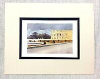 1906 Antico Stampa The Palazzo Di Versailles Landscape Vista Southern Parterre