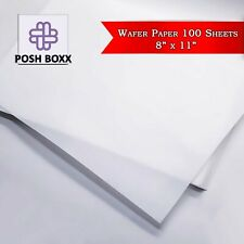 """Edible Wafer Rice Paper Pack for printing Cake Toppers (100 sheets) - 8"""" x 11"""""""