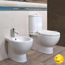 SANITARI A TERRA FILO MURO CON CASSETTA VASO MONOBLOCCO COPRIVASO BIDET BAGNO WC