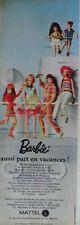 Publicité de presse (clipping) - poupées Barbie de Mattel