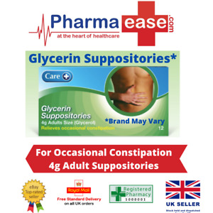 Care Glycerol/ Glycerin Suppositories 4g (12's) UK Pharmacy Stock for Adults