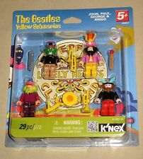 K'NEX The Beatles Yellow Submarine Sgt Pepper Figures Set John George Paul Ringo