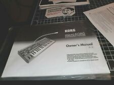Korg Microkorg Synthesizer Owner's Manual with ORIGINAL MICROKORG LISTS+CHARTS!