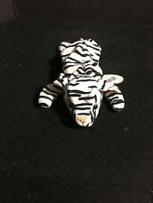 """TY BEANIE BABY """"BLIZZARD"""" WHITE BENGAL TIGER PLUSH RETIRED STYLE 4163"""