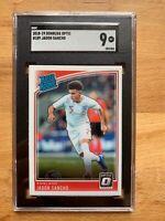 Jadon Sancho 2018-19 Donruss Optic #189 Rookie SGC 9 1st card England Borussia