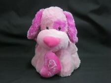 BEST MADE TOY VALENTINE PINK LOVE HEART SITTING PUPPY DOG SPOT PLUSH STUFFED TOY