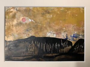 Pink Moon Rising   - Original  painting- Sarah Gill- In Mount.