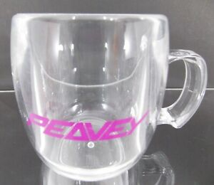 PEAVEY GUITAR BASS VINTAGE 1991 Clear Acrylic 10oz Promo Mug Nearly Invisible!