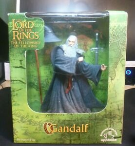 """Lord Of The Rings - Fellowship Of The Ring - 10"""" GANDALF Figure - Mint in Box!"""