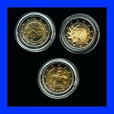 3 X 2 EURO COMMEMORATIVE GRECE 2 X 2010  + 2011   BEL ETAT