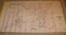 "1964 WASHINGTON COUNTY MARYLAND General Highway USED Map 18"" x 32"""