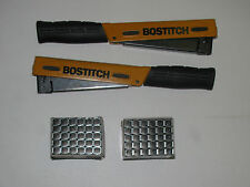 """2 EA HAMMER TACKER, STANLEY BOSTITCH POWER CROWN H 30-8 & 2 BOXES 3/8"""" STAPLES"""