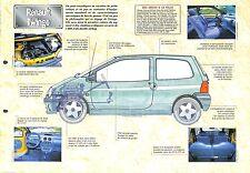 Renault Twingo France Petite Voiture 1993 Auto Car FICHE FRANCE