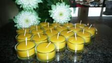 10-20 Teelichter in Gläsern 100% Bienenwachs Kerzen Brenndauer ca 4,5 Std