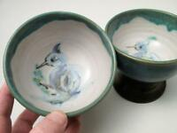 2x SIGNED HATTON BECK & LUCY BOYD HAND PAINTED AUSTRALIAN STUDIO POTTERY BOWLS 2