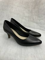 Ladies Clarks Court Shoe Isidora Frye Black Leather size 7.5D Was £45