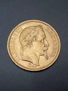 Napoleon 20 francs gold coin 1865