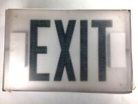 EXITRONIX LED Double Sided Exit Sign E2-L-W-NDN 500/600 SERIES Green Lights