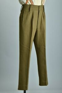 British Army Officers' Mid C20th Well Tailored Khaki SD Uniform Trousers. CCI