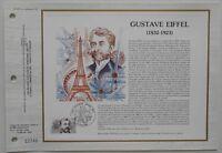 Feuillet CEF 663 1er jour 1982 Gustave Eiffel La Tour