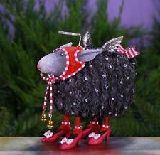 Patience Brewster BARBARA the BLACK SHEEP ornament Creator of Krinkles CUTE! NIB