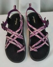 Faded Glory purple strappy girls sandals SZ 4