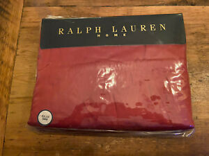 Ralph Lauren King Estate Fitted Sheet Sateen 100% Cotton Red Damask-NEW SEALED!